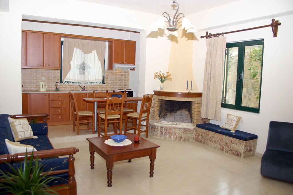 Villa Dimitris livingroom